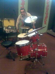 """Roberto con la sua """"Tamburina"""", con misure Jazz e Piatti UFIP Experience"""