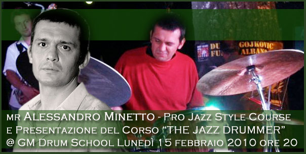 Alessandro Minetto @ GM Drum School