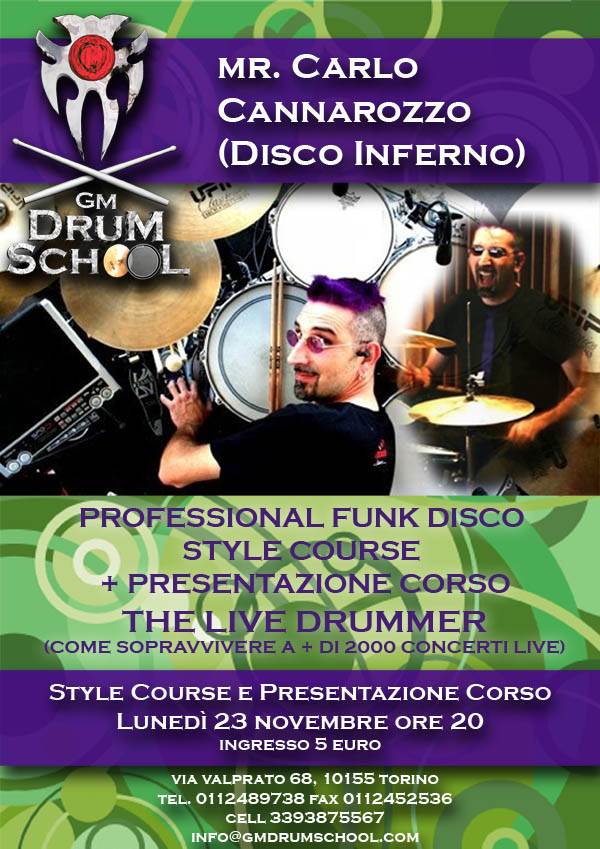 carlo cannarozzo @ gm drum school 23 novembre 2009