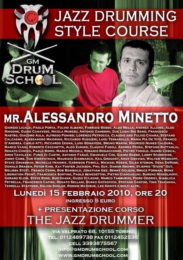 volantino-Alessandro Minetto @ GM Drum School