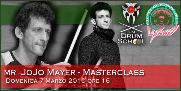 Mr Jojo Mayer @ GM Drum School e Lizard
