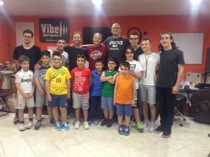 Massimo Russo e paul Hose alla GM Drum School Lazio
